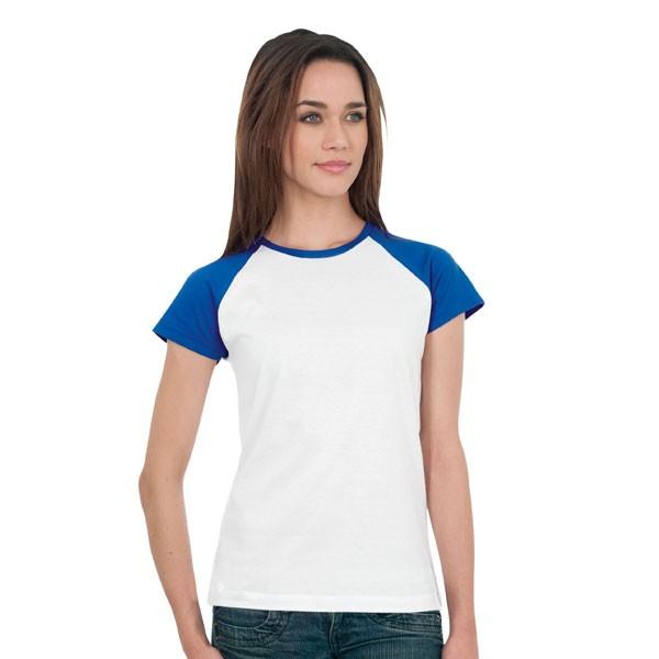 Assez Tee-shirt Femme Milky. Tee-shirt publicitaire bicolore manches  VK08