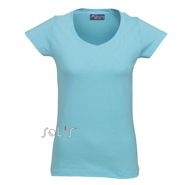 tee shirt femme couleur col v tes shirt publicitaire moon. Black Bedroom Furniture Sets. Home Design Ideas