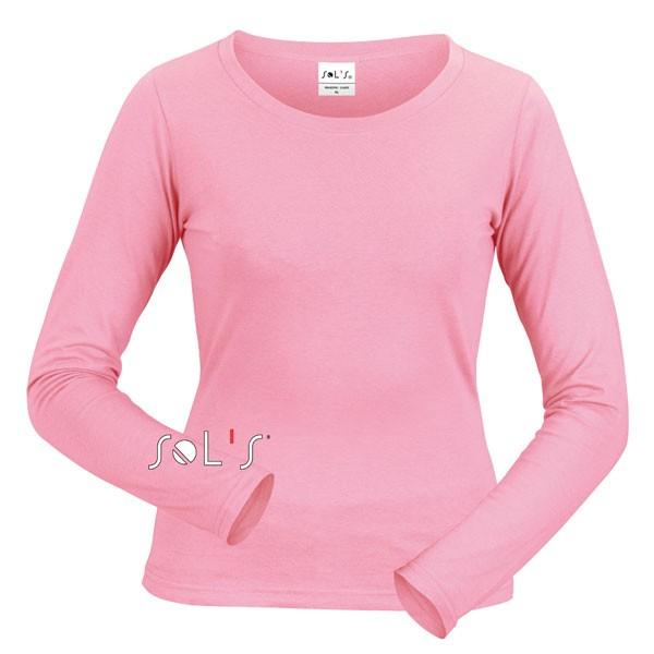 tee shirt femme manches longues et col rond tee shirt couleur majestic t shirt publicitaire. Black Bedroom Furniture Sets. Home Design Ideas