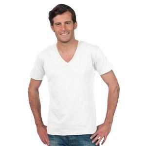 master tee shirt homme blanc col v textile publicitaire. Black Bedroom Furniture Sets. Home Design Ideas