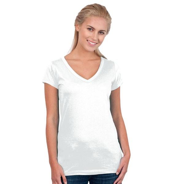tee shirt femme col v finitions bords francs roulott e tee shirt mild personnalis pour femme. Black Bedroom Furniture Sets. Home Design Ideas