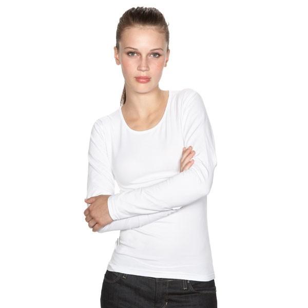 tee shirt femme manches longues et col rond tee shirt blanc dream t shirt publicitaire pour femme. Black Bedroom Furniture Sets. Home Design Ideas