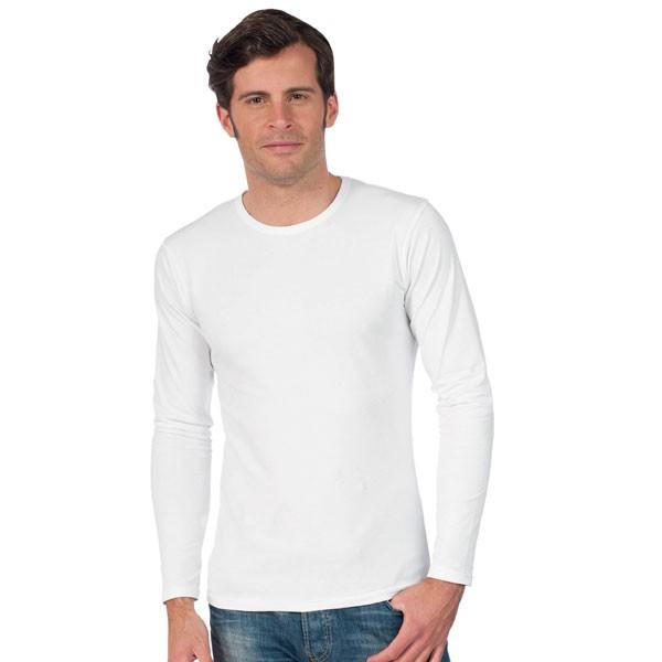 tee shirt homme manches longues et col rond tee shirt blanc century t shirt publicitaire pour. Black Bedroom Furniture Sets. Home Design Ideas