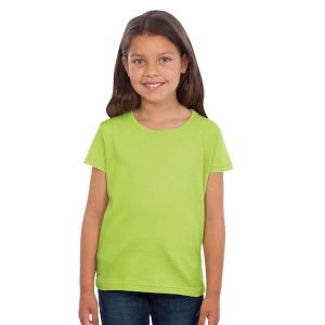 Cherry - Tee-shirt Fillette Couleur vert pomme